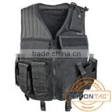 Tactical Vest with high strength 1000D waterproof nylon with four ply nylon thread suitable for military