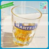 Best glassware brands Cognac glass drinking tumbler glass lead free crystal whisky glass with Cognac brand logo