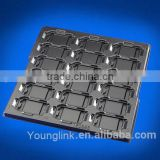 black electric conductive plastics blister tray for components