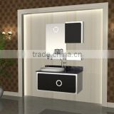 branded stainless steeel bathroom vanity with side cabinet