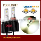 Yellow led foglight motorcycle headlight Auto led foglights led car headlight conversion kits