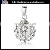 Custom wholesale jewelry 925 sterling silver crystal ball pendants