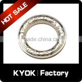 KYOK 19mm polished aluminum alloy metal roller shower curtain rings,top material decorative curtain hardware accessories
