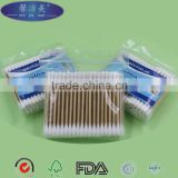 100pcs in bag two head birch wooden stick cotton buds                                                                                                         Supplier's Choice
