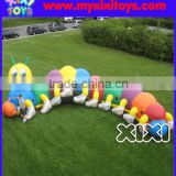 XIXI cute baby inflatable caterpillar/worm obstacle courses for toddlers