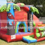 SPIDER MAN classical inflatable jumper and slide combo castle SP-CM039