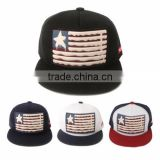 [P137-P139-1] USA flag embroidered PATCH amazing snapback acrylic fabric cap overstock sale