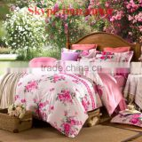 Hello Kitty 100% cotton reactive printting bed sheet set bed sheet egyption cotton bedding bedding set bridal bedding set