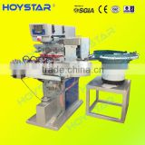 4 color automatic plastic caps logo pad printing machine/4 colour open inkwell pad printing machine price