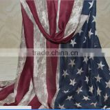 Fashion Scarf For Sale Polyester print falg Scarf USA flag Pattern design scarf factory china