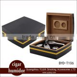 YUJIA portable cigar box cedar wood cigar humidor gift set cohiba cigar suits lacquering cigar asthray