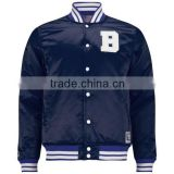 2013 Custom latest Popular Design High Quality Satin Varsity Jacket/ Satin Bomber Printed Jacket