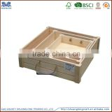 2016 cheap custom unfinished wood box set wooden crate for apple fruit vegetables wholesale