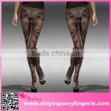 chinese sexy girl Baroque Floral Lace Sheer Full Tights seamless pantyhose for women onesize