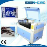 SIGN 9060 Cheap Mini rubber stamp laser engraving machine/laser wedding invitation card cutting machine