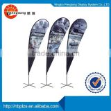 2015 hot sale banner stand 3m flag banner outdoor teardrop flag pole