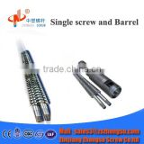 cincinnati conical twin screw and barrel/double screw barrel/pvc pipe / pe pipe plastic & rubber machinery parts