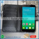 Factory price leather Wallet case cover pouch For Alcatel One Touch Flash Plus Get screen protector Free