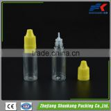 10ml clear dropper bottle with needle tip cap for e liquid
