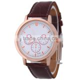 Silver Gold Rose Gold Matt Black Plating Women Men Unisex Simple Classic Quartz Genuine Leather Watch