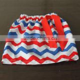 New Girls 4th of July Patriotic Twirly Skirt Red White Blue Chevron Skirt Wholesale