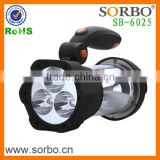 Hand Crank LED Camping Lantern with Flashlight, SOS Siren & Light, AM/FM Radio & Emergency Mobile Device Charge