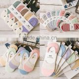 Q50005 Lady Cotton Deodorant Low Show Silicon Gel Nonslip Loafer Boat Socks