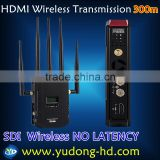 AV Wireless Transmitter HD1080P Wireless SDI BNC Receivers Sender Audio Video 300M For CCTV camera