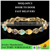 ATHENAA Top Design Wholesale Jewelry Chain Copper Handmade Colorful Opal Magnetic Bracelet