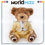 New Arrival Most Popular Golden Suit Teddy Beach Toys For Girls