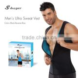 S-SHAPER Slimming Neoprene Vest Hot Sweat Shirt Body Shapers For Weight Loss Mens Zipper Vest