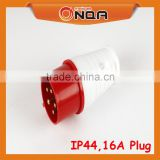 MQ-015 Series Red Male Industrial Plug And Wall Socket 5 pins 16 amps