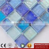 IMARK Mixed Color Iridescent Square Glass Recycle Glass Mosaic Swimming Pool Tiles