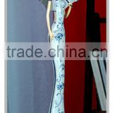 Blue & white Art Collectible Chinese lady Figurine with chinese dress