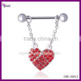 Wholesale 3 Colors Body Piercing Adjustable Nipple Ring