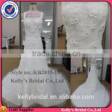 modern design strap make of high quality lace with beading royal blue and white wedding dresses