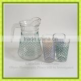1.3L glass water jug with 4 cups,glass juice jug with plastic lid,glass tea bottle,glassware