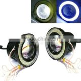 3.5 inch led motorcycle fog light , COB Projector with Angel Eye , car door projector lights