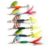 18CM 77g hard fishing spinner bait artificial blades for metal bass fishing lure spoon dressed treble hooks