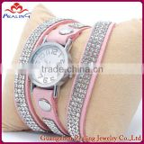 light pink summer watch bracelet for girl bling shining stone watch nigth bar eye catching fashion ladies wrist watch
