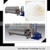 Vacuum filter for potato/cassava starch/chips processing machinery