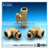 low price brass parts copper pipe flare fitting tube connector hose fitting brass compression pipe fitting