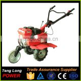 china factory with CE/ISO certificate 6.5hp gasoline power mini tractor/tiller and trailer