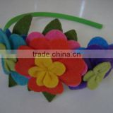 Hot new bestselling product wholesale alibaba handmade Felt spring flowers headband made in China