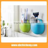 Bathroom Toothbrush Holder Cup Wall Mount Sucker Toothpaste Dispenser Toothbrush Holder Suction Hooks