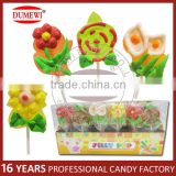Flower Shaped Fruit Flavored Cartoon Jelly Pop