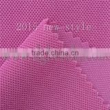 2015 new style 100% polytester middle BK/mesh fabric/cloth for handbags,shoes lining and so on