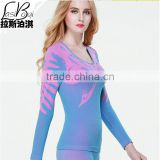 Custom 2016 cheap new female Ms women fashion sey beauty care thin seamless Thermal underwear set body shaping autumn winter lon