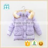 Children Cotton Coat Winter girls purple Jacket Kids Baby Hooded Nylon Warm Outwear Cotton Jacket Wholesale