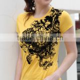 Ladies' fashion cotton printing nice T-shirt